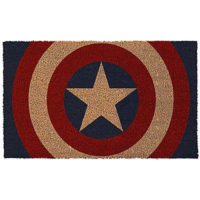 Captain America Shield 17-Inch x 29-Inch Door Mat