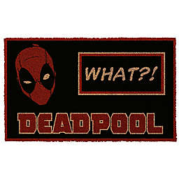 "Deadpool ""What?!"" 17-Inch x 29-Inch Door Mat"