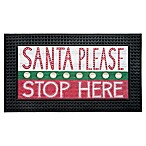 Santa Please Stop Here  18-Inch x 30-Inch LED Door Mat