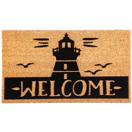 Lighthouse Quot Welcome Quot 16 Inch X 28 Inch Coir Door Mat Bed