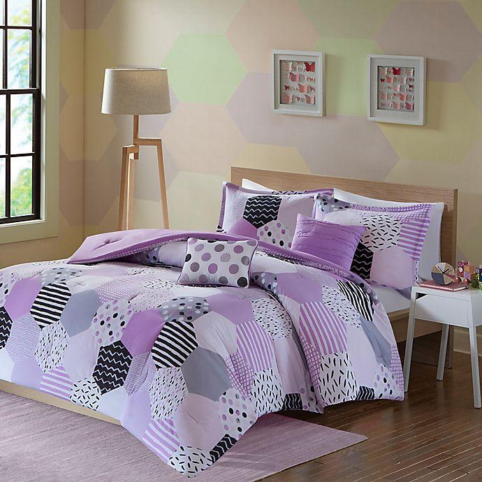 Alternate image 1 for Urban Habitat Kids Trixie Twin/Twin XL Comforter Set in Purple