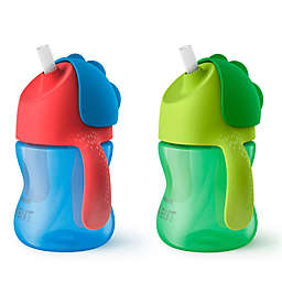 Philips Avent 2-Pack 7 oz. My Bendy Straw Cup in Blue/Green