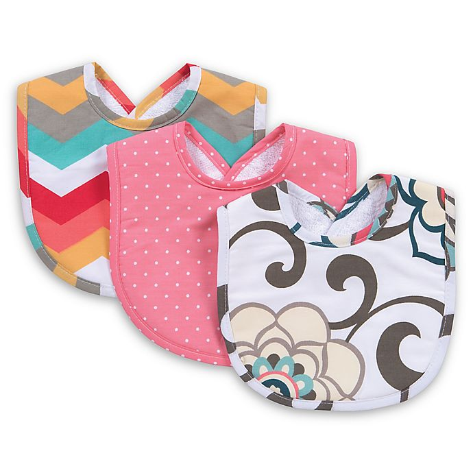 Alternate image 1 for Trend Lab® Waverly Baby Pom Pom Play 3-Pack Pom Pom Play Bib Set