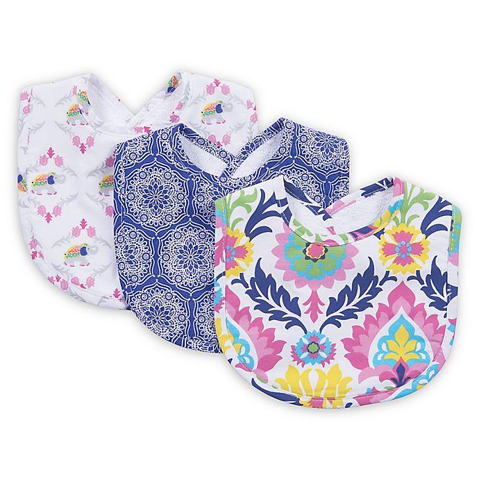 Alternate image 1 for Trend Lab® Waverly Baby Santa Maria 3-Pack Santa Maria Bib Set