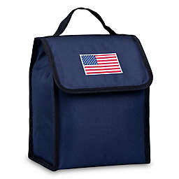 State of Mind USA Flag Lunch Bag in Blue