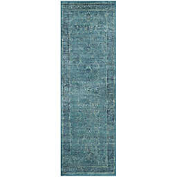 Safavieh Vintage Palace 2'2 x 14' Runner in Turquoise