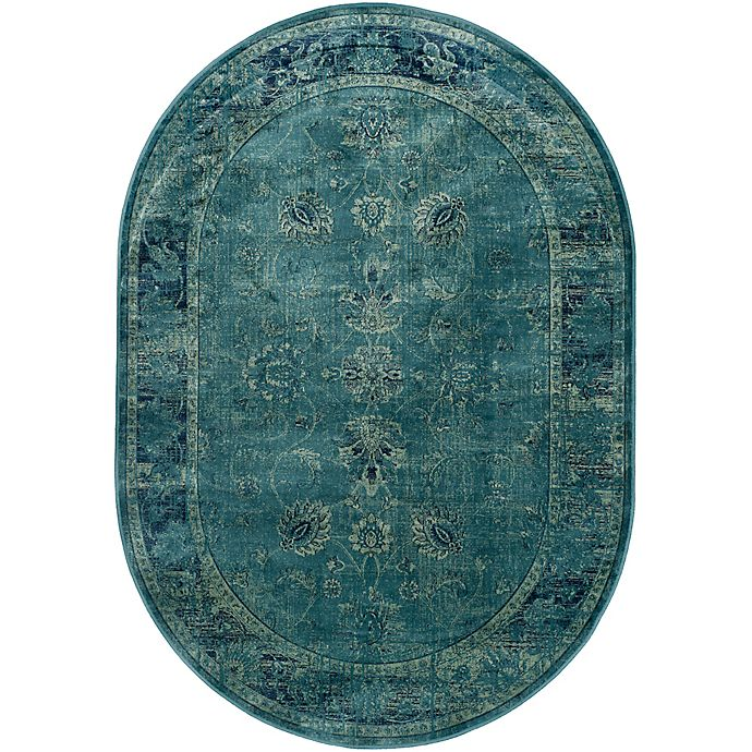 Alternate image 1 for Safavieh Vintage Palace 5'3 x 7'6 Oval Area Rug in Turquoise