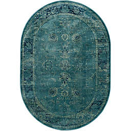 Safavieh Vintage Palace 5'3 x 7'6 Oval Area Rug in Turquoise