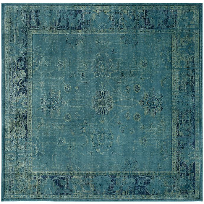 Alternate image 1 for Safavieh Vintage Palace 6-Foot Square Area Rug in Turquoise