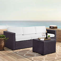 Crosley Biscayne 3-Piece Resin Wicker Outdoor Conversation Set with Cushions