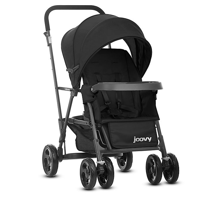 Alternate image 1 for Joovy® Caboose Graphite Stand-On Tandem Stroller in Black