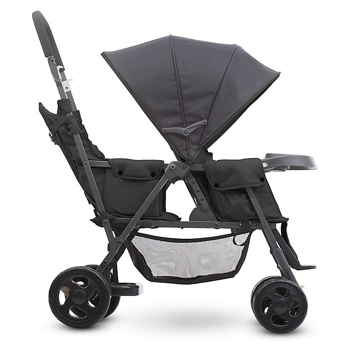 Alternate image 1 for Joovy® Caboose Too Graphite Stand-On Tandem Stroller in Black