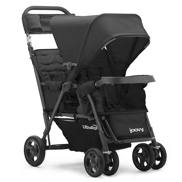 Alternate image 1 for Joovy® Caboose Too Ultralight Graphite Stand-On Tandem Stroller in Black