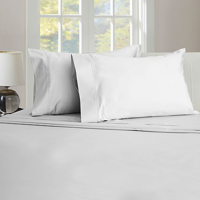 Alternate image 1 for Therapedic® 450-Thread-Count Twin/Twin XL Sheet Set in Brilliant White
