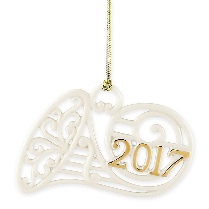 Lenox 174 2017 A Year To Remember Horn Christmas Ornament