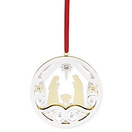 Lenox® Stamped Metal Nativity Christmas Ornament