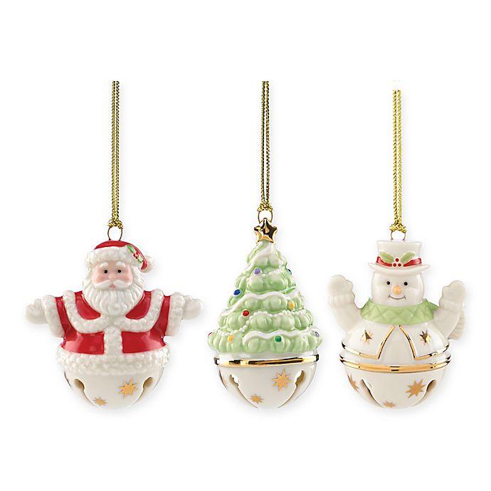 Lenox® 2017 Figural Sleigh Bells Christmas Ornaments (Set of 3) | Bed Bath & Beyond