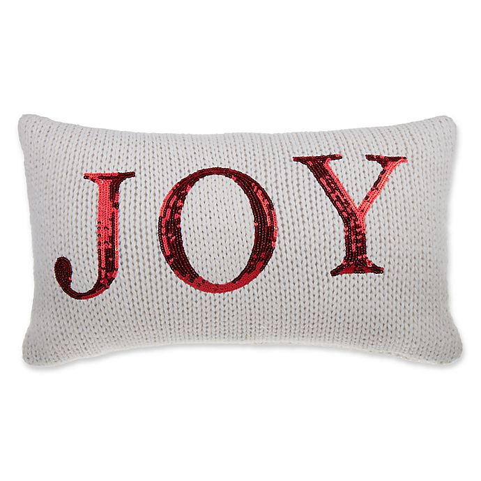 Alternate image 1 for Joy Knit Oblong Throw Pillow in Ivory