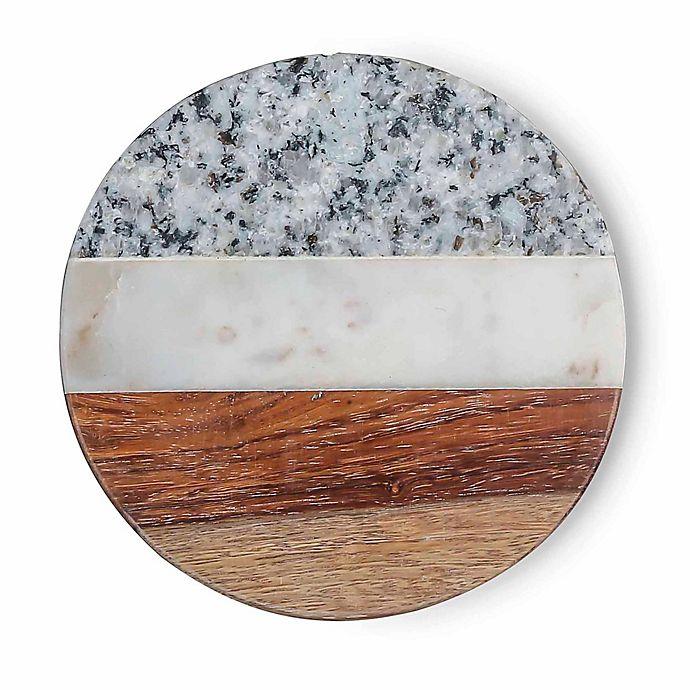 Alternate image 1 for Thirstystone Round Sheesham  Coaster (Set of 4)