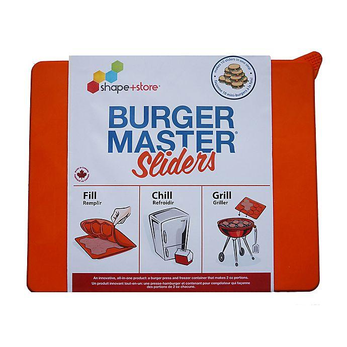 Alternate image 1 for Shape + Store Burger Master Sliders 10-in-1 Burger Press in Orange