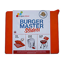 Shape + Store Burger Master Sliders 10-in-1 Burger Press in Orange