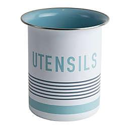 Jamie Oliver Utensil Crock Pot in Blue/White/Grey