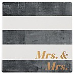 Thirstystone®  Mrs. and Mrs.  Stripes Single Square Coaster