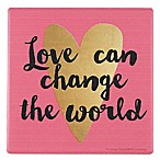 Thirstystone®  Love Can Change the World  Single Multicolor Square Coaster