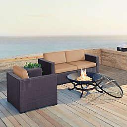 Crosley Biscayne 4-Piece Fire Pit Conversation Set