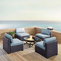 Crosley Biscayne 5-Piece Fire Pit Conversation Set