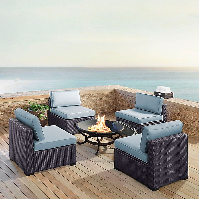 Alternate image 1 for Crosley Biscayne 5-Piece Wood Burning Fire Pit Conversation Set