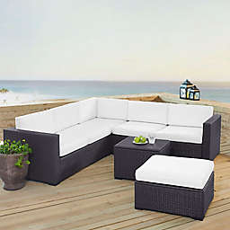 Norbourne Isle 5-Piece Resin Wicker Sectional Set with Cushions
