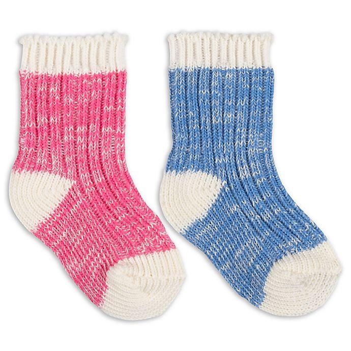 Alternate image 1 for ED Ellen DeGeneres 2-Pack Crew Socks in Light Blue/Pink