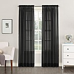 No. 918 Emily Sheer Voile 63-Inch Rod Pocket Window Curtain Panel in Black