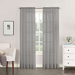 No.918® Emily Sheer Voile 63-Inch Rod Pocket Window Curtain Panel in Charcoal
