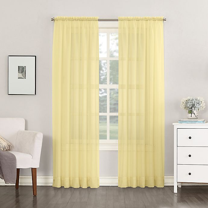 Alternate image 1 for No.918®Emily Sheer Voile 63-Inch Rod Pocket Window Curtain Panel in Yellow (Single)