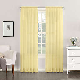 No.918®Emily Sheer Voile 63-Inch Rod Pocket Window Curtain Panel in Yellow (Single)