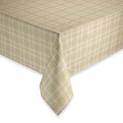 Tuscan Plaid Laminated Fabric Tablecloth and Napkins