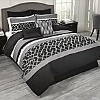 Griffen 9-Piece King Comforter Set in Black/White/Grey