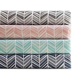 Madison Park Chevron Microfiber Printed Sheet Set
