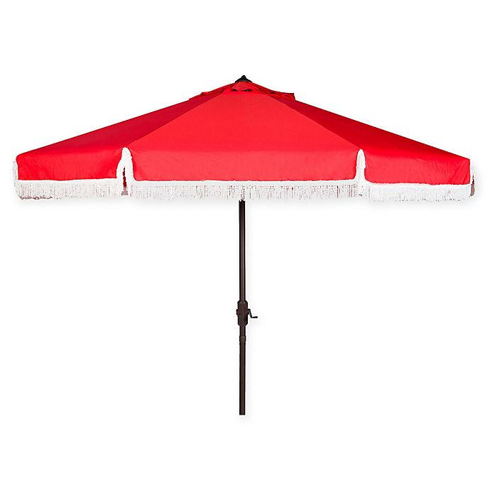Alternate image 1 for Safavieh UV Resistant Milan 9-Foot Crank Umbrella