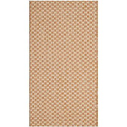 Safavieh Courtyard Check Indoor/Outdoor 2-Foot x 3-Foot 7-Inch Accent Rug in Natural/Cream
