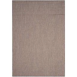 Safavieh Courtyard Check Indoor/Outdoor 6-Foot 7-Inch x 9-Foot 6-Inch Area Rug in Light Brown/Grey