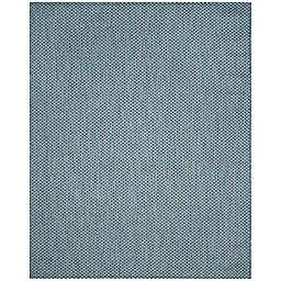 Safavieh Courtyard Check Indoor/Outdoor 9-Foot x 12-Foot Area Rug in Blue/Light Grey