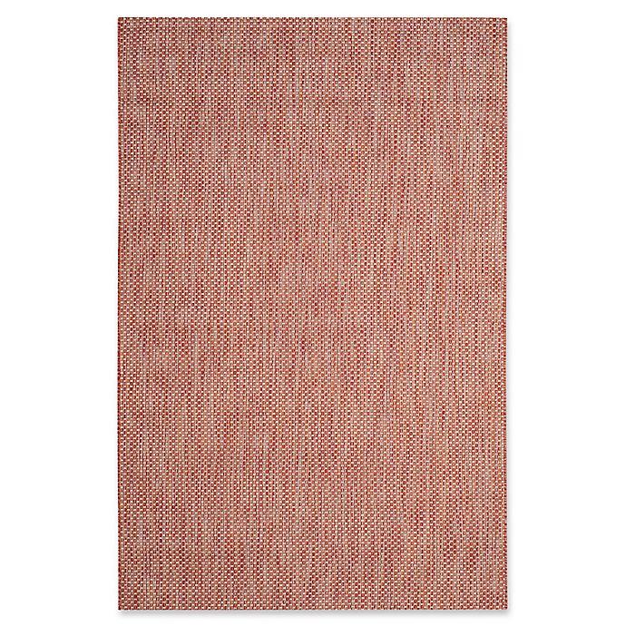 Alternate image 1 for Safavieh Courtyard 5-Foot 3-Inch x 7-Foot 7-Inch Indoor/Outdoor Area Rug in Red/Beige