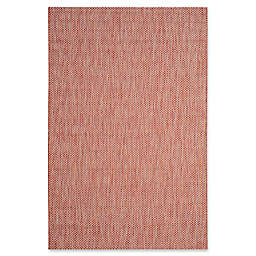 Safavieh Courtyard 5-Foot 3-Inch x 7-Foot 7-Inch Indoor/Outdoor Area Rug in Red/Beige