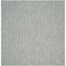 Safavieh Courtyard 6-Foot 7-Inch Square Indoor/Outdoor Area Rug in Grey/Navy