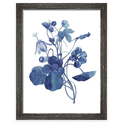 "PTM Images ""Indigo Flora III"" 13.5-Inch x 17.5-Inch Print Wall Art"