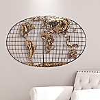 Southern Enterprises World Map 46-Inch x 25-Inch Metal Wall Art