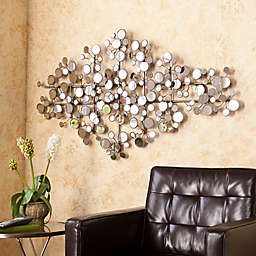 Southern Enterprises Oblishen 49.25-Inch x 27-Inch Mirrored Metal Wall Sculpture